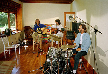 The tiny studio was very cramped but was all the Beatles could afford...